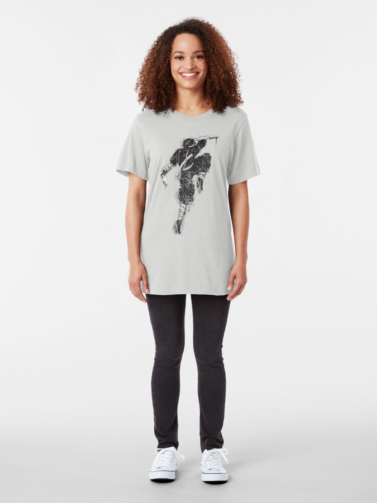Alternate view of Ninja Swords Shinobi Japanese Print Slim Fit T-Shirt