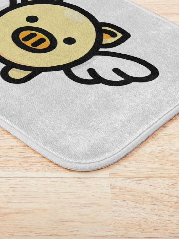 Alternate view of When Pigs Fly: Yellow Bath Mat