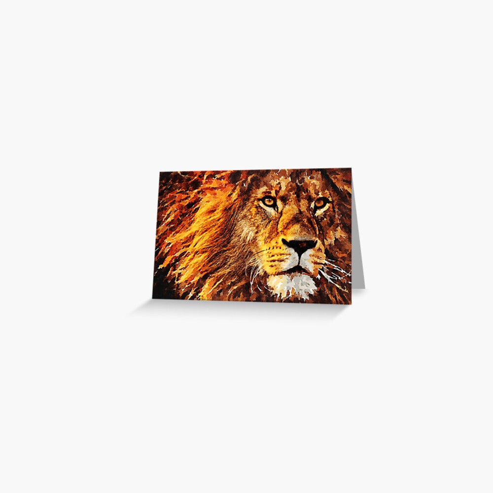 Wild Lion Greeting Card