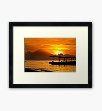 Mount Agung sunset, Bali Indonesia Framed Print