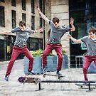 Skateboarder Triple von coolArtGermany