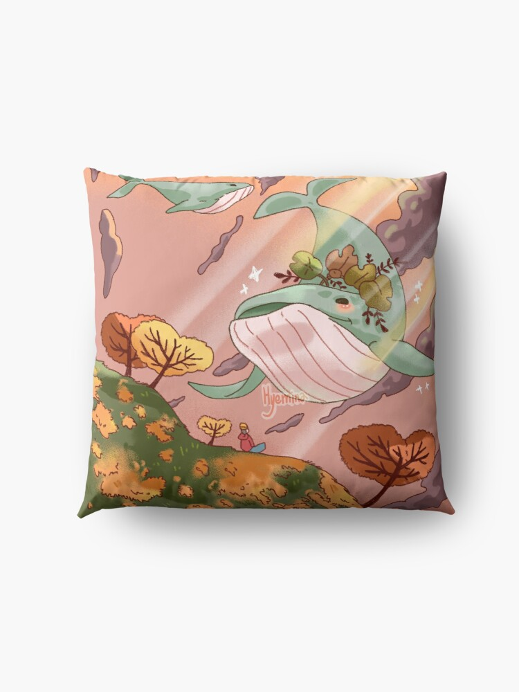 Alternate view of Giant Whales Floor Pillow