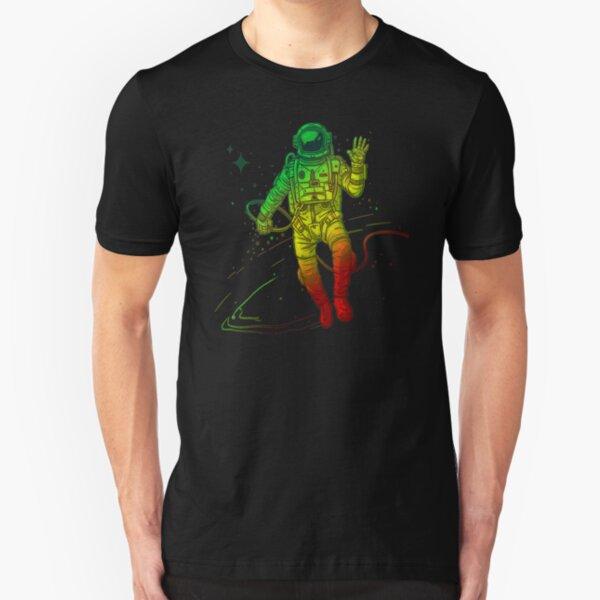 Rasta Dreads Reggae Jamaica Ethiopian Flag Roots Space Man Slim Fit T-Shirt
