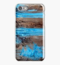 "Large Wall Art , Abstract art, Contemporary art, Original textured painting, Nature Wall Art "" Utopia "" iPhone Case/Skin"