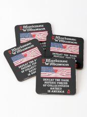Marianne Williamson Harness Love Card Coasters