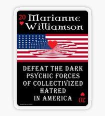Marianne Williamson Harness Love Card Transparent Sticker