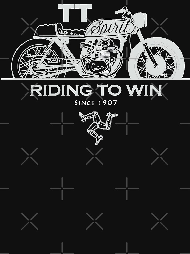 Isle Of Man Manx TT Racing Spirit Of The Racers Tourist Trophy Biker Races Graphic by thespottydogg