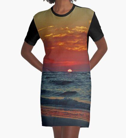 Summer Sunrise Graphic T-Shirt Dress