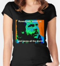 Rowsdower Saves Us Women's Fitted Scoop T-Shirt