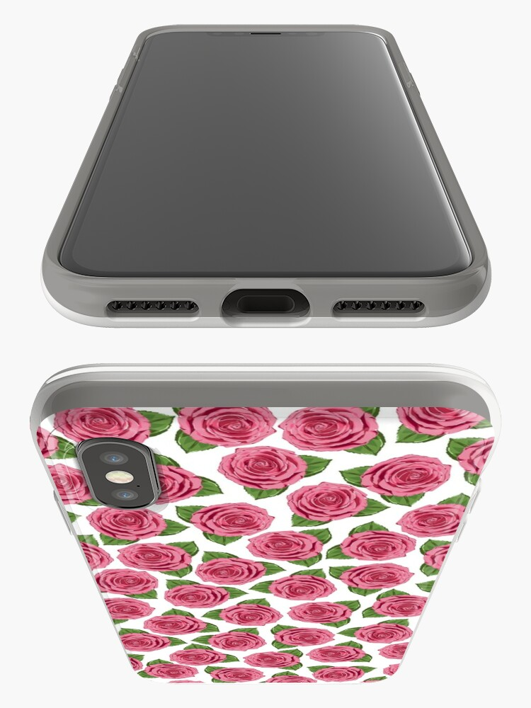 Alternate view of Dusky rose flower pattern.  iPhone Case & Cover