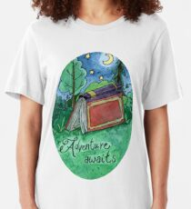 Camiseta ajustada La aventura espera