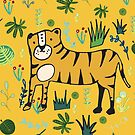 Jungle Tiger Yellow by susycosta