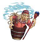 Okkulte Hexe Baba Yaga   Fantasy-Folklore von PathOfPixels