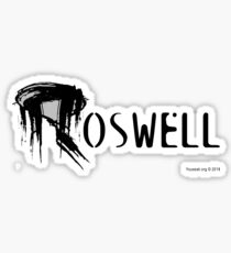 Roswell Abstract Glossy Sticker