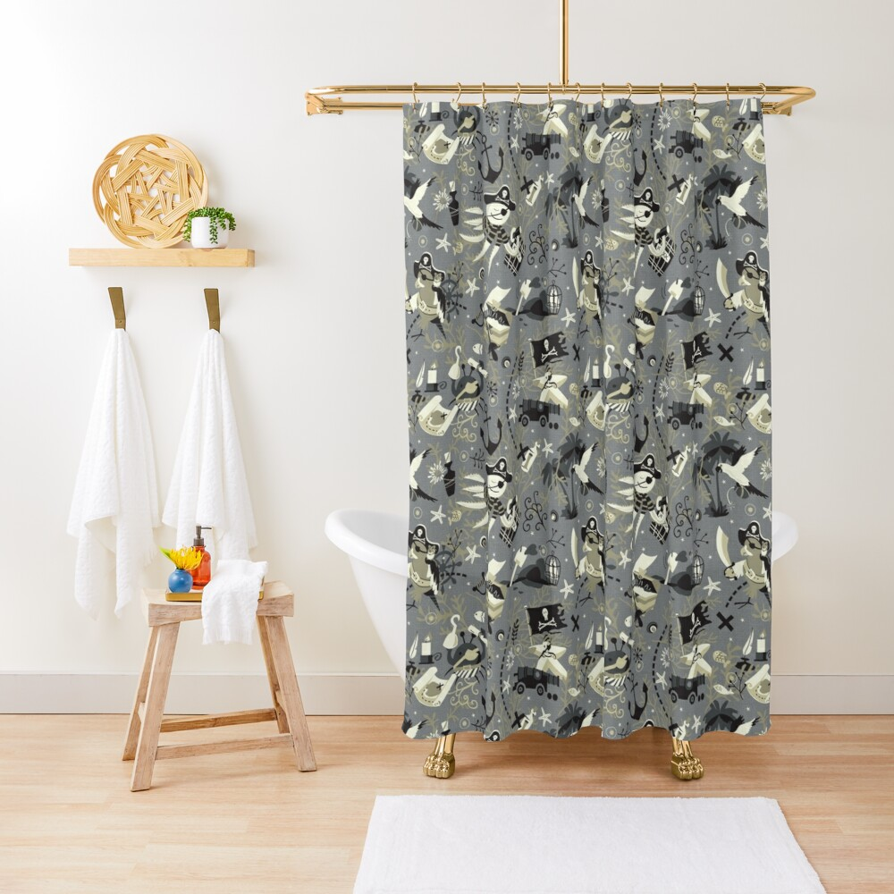 Treasure hunters Shower Curtain