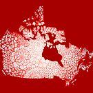 Mandala Map of Canada by julieerindesign