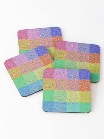 Deep Dreaming of a Color World Coasters