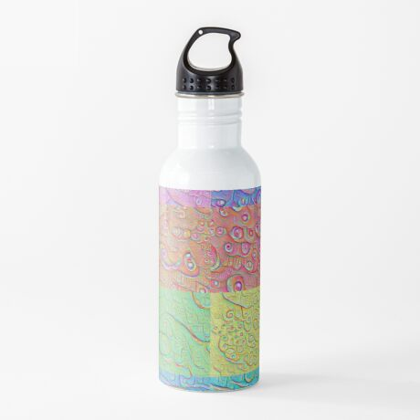 Deep Dreaming of a Color World Water Bottle