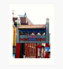 Chinatown Melbourne Art Print