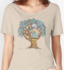 Live Simply, Love Trees Women's Relaxed Fit T-Shirt