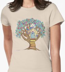 Live Simply, Love Trees Women's Fitted T-Shirt
