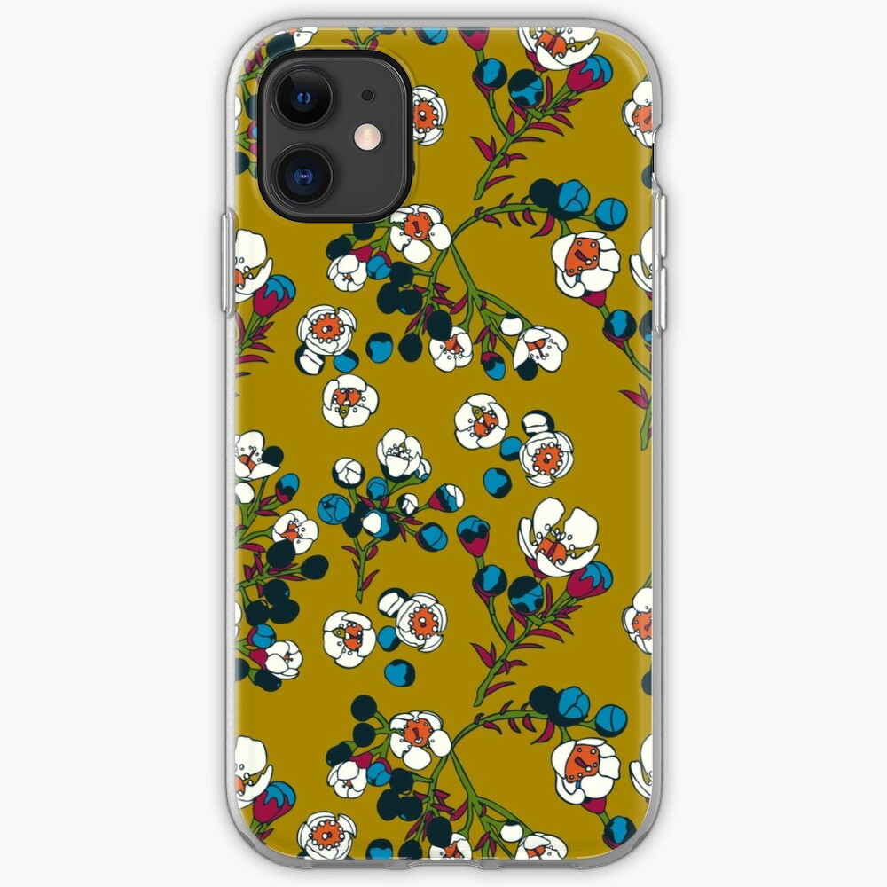 Tiny Flower Buds in Modern Colors iPhone Soft Case