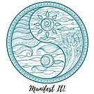 Manifest It! Yin Yang Teal by Jaclyn Johnston