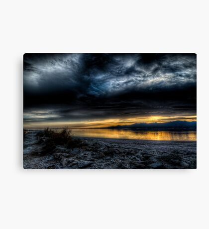 Sunset on the Salton Sea Canvas Print