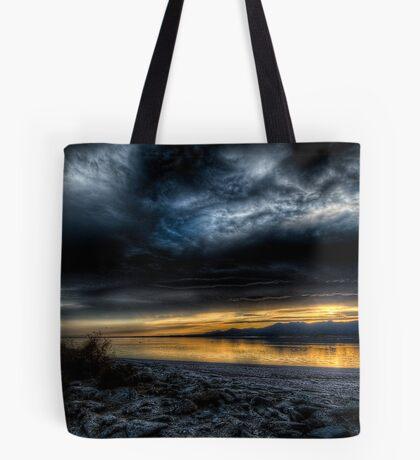 Sunset on the Salton Sea Tote Bag