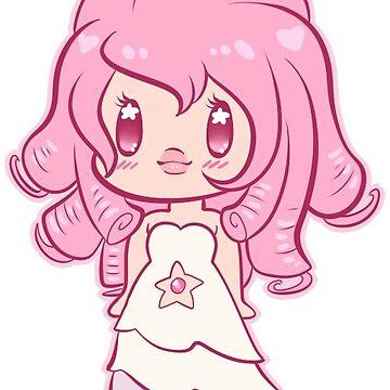 Steven Universe Rose Quartz Chibi by prpldragon