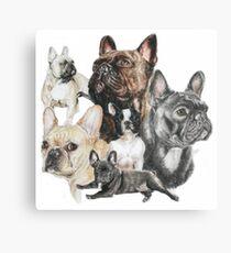 French Bulldog Montage Canvas Print
