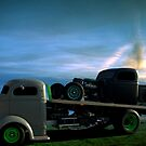 1940 Ford Cab Over Roll Back Truck with Rat Rod by TeeMack
