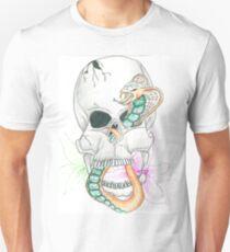 Skull, Snake, Lilies T-Shirt