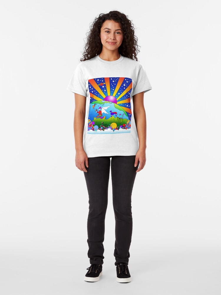 Alternate view of Cosmic Pet World Classic T-Shirt