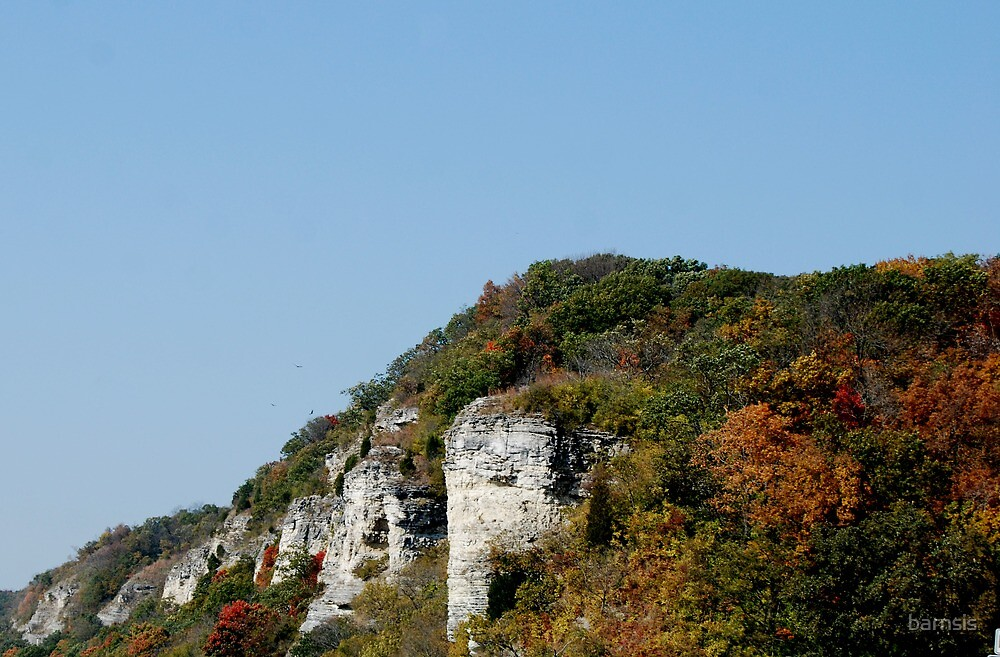 The Cliffs Along The River Road by barnsis
