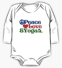 Peace love and yoga One Piece - Long Sleeve