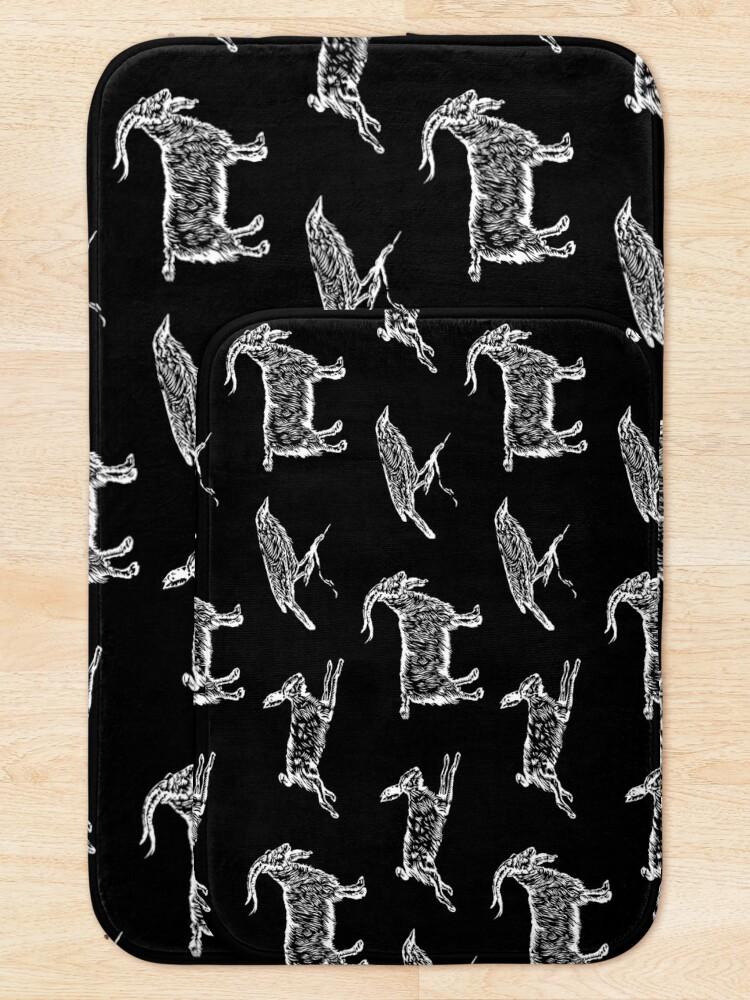 Alternate view of Hare, Raven, Goat Bath Mat