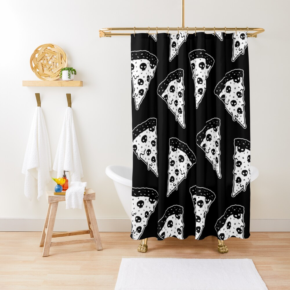 Death by Pizza Shower Curtain