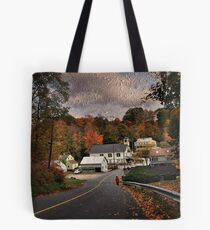 New England Town Tote Bag