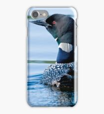 Adult Loon and Baby - Mississippi Lake, Ontario iPhone Case/Skin