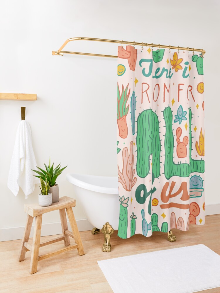 Alternate view of Room for All Shower Curtain