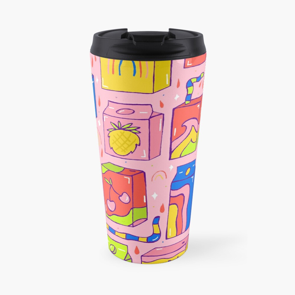 Juice Box Print Travel Mug