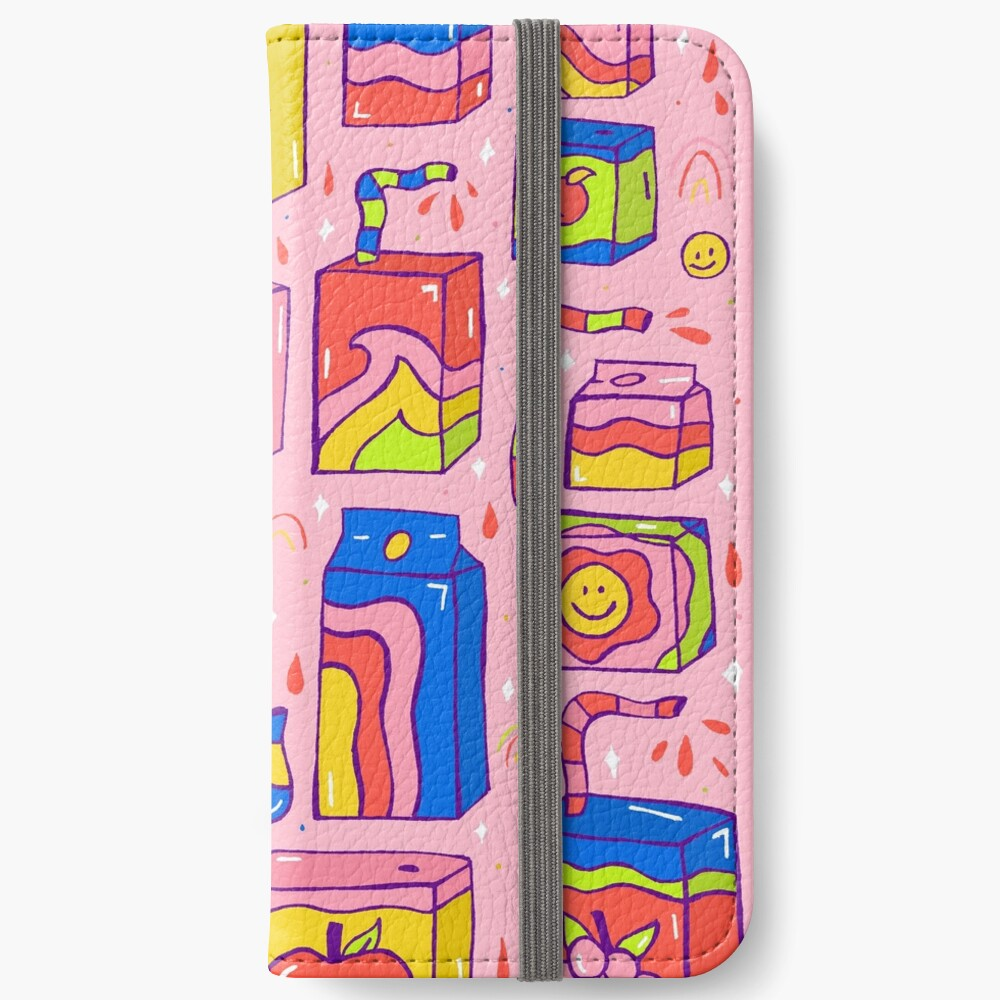 Juice Box Print iPhone Wallet