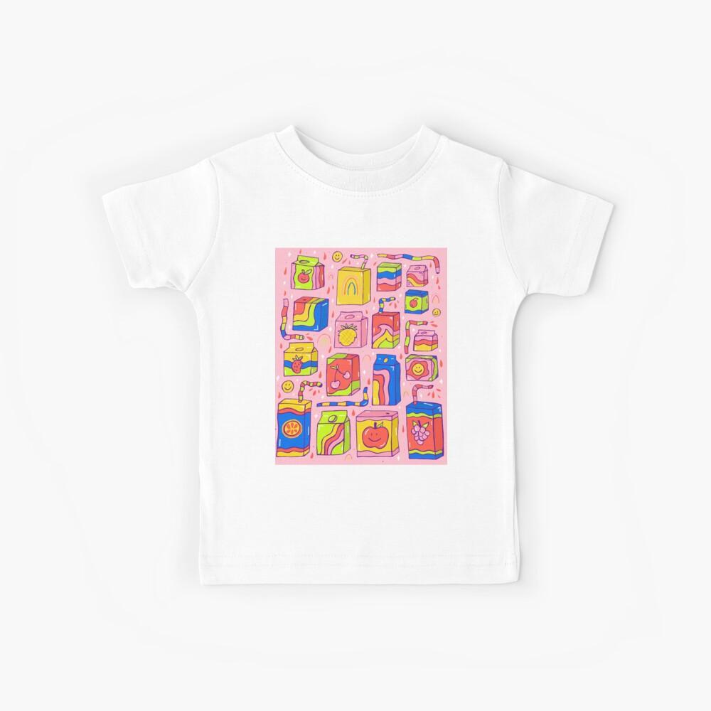Juice Box Print Kids T-Shirt