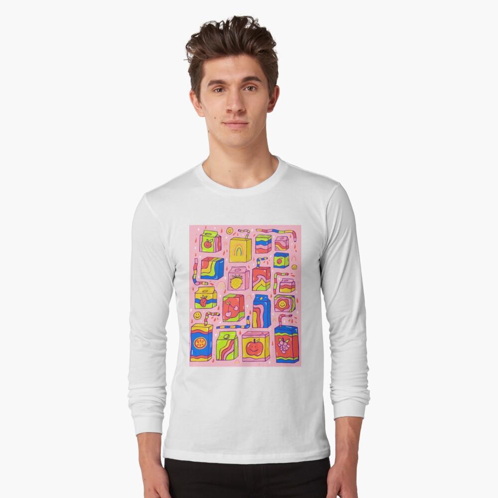 Juice Box Print Long Sleeve T-Shirt