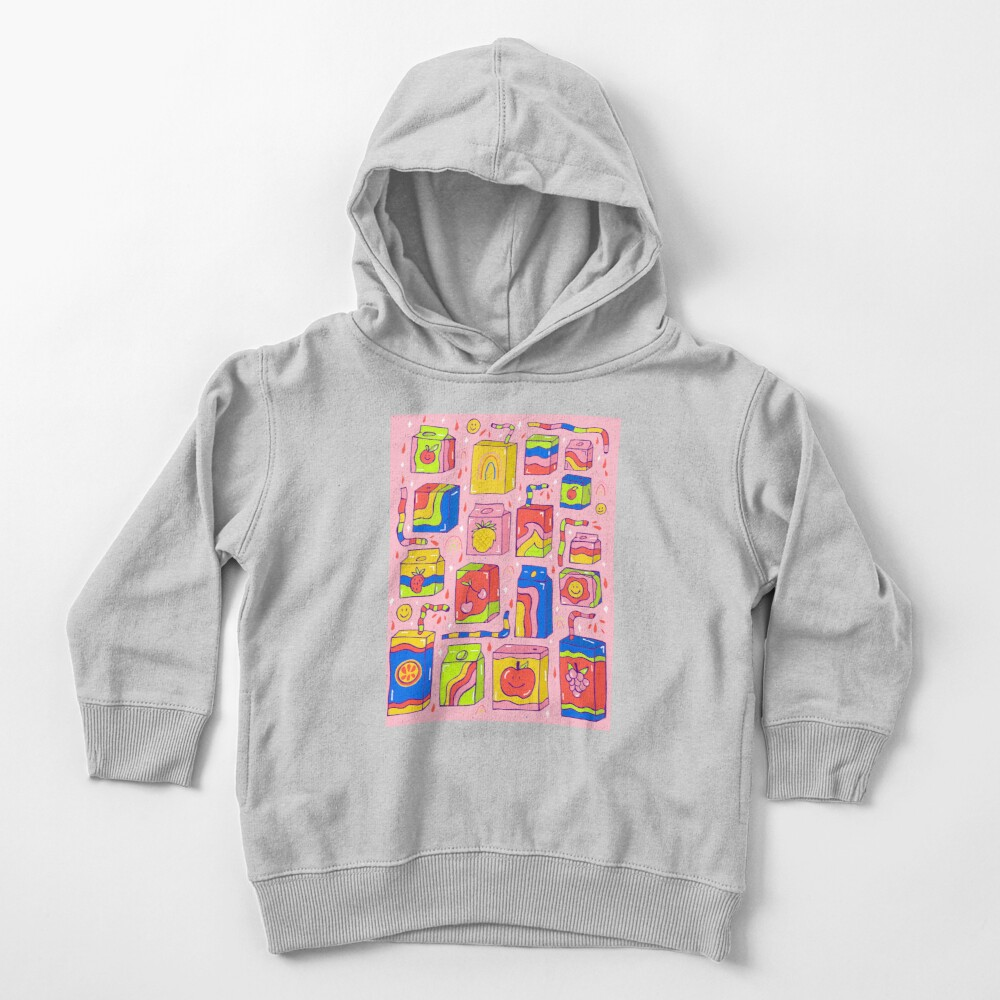 Juice Box Print Toddler Pullover Hoodie