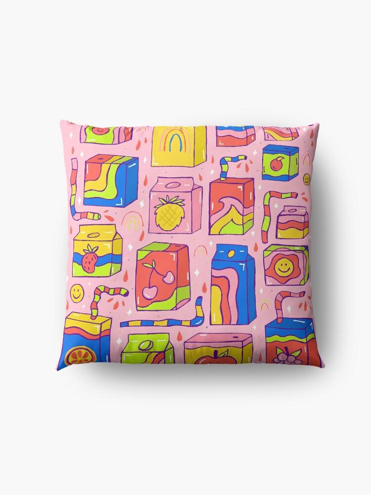 Alternate view of Juice Box Print Floor Pillow