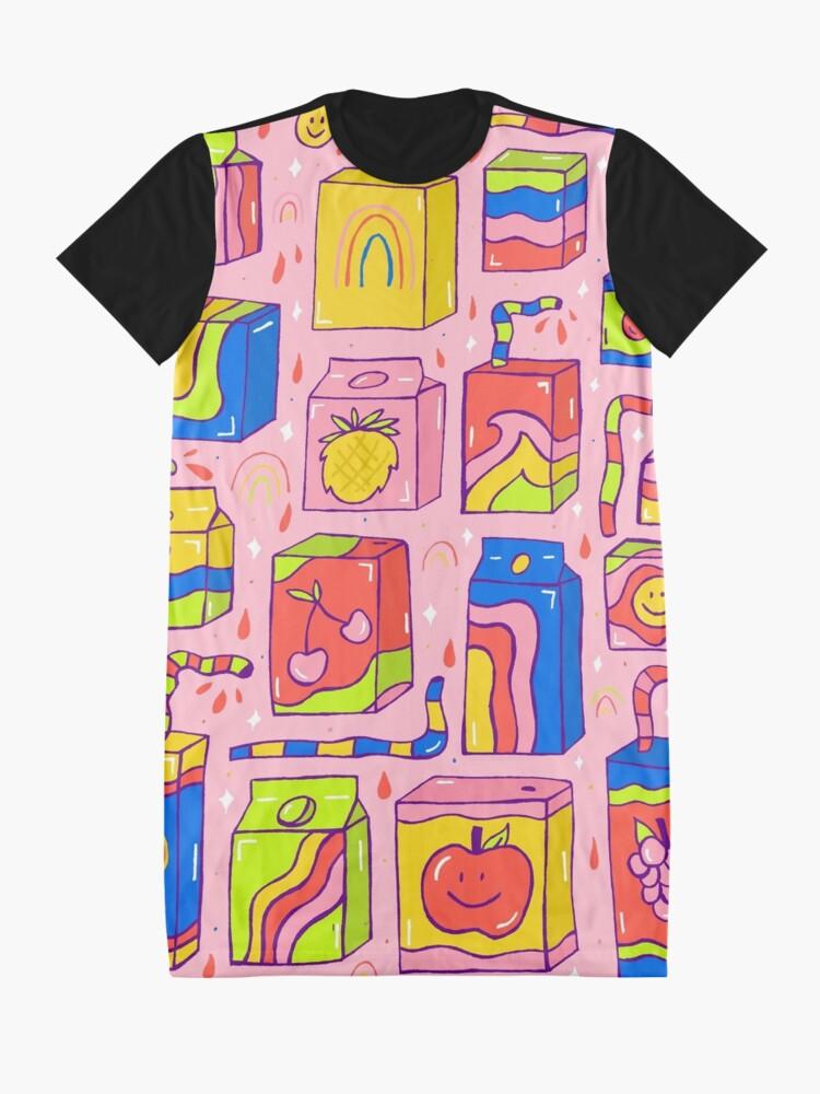 Alternate view of Juice Box Print Graphic T-Shirt Dress