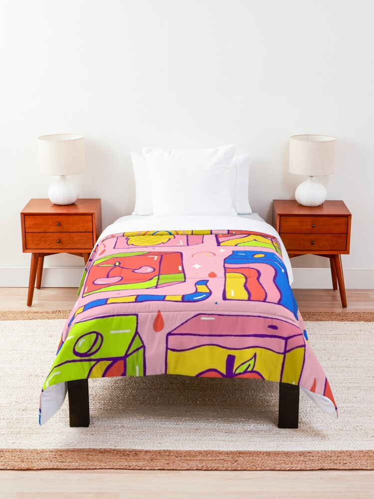 Alternate view of Juice Box Print Comforter