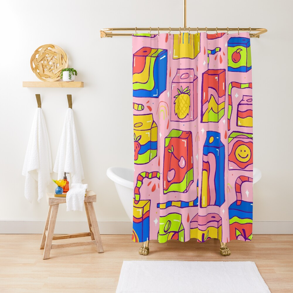 Juice Box Print Shower Curtain